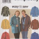 Simplicity Sewing Pattern 7315 Misses Size 6-16 Easy Zipper Button Front Long Sleeve Jacket