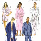 Butterick Sewing Pattern B5537 5537 Mens Misses Sizes XL-XXXL Easy Robe Top Shorts Pants Pajamas