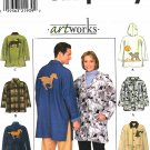 Simplicity Sewing Pattern 8248 Mens Misses Size Chest 42-48 Barn Jacket Optional Hood Appliques
