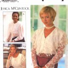 Simplicity Sewing Pattern 8811 Misses Sizes 6-10 Jessica McClintock Button Front Pullover Blouses