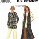 Simplicity Sewing Pattern 9313 Misses Sizes 6-24 Easy Top Pants Lined Long Vest
