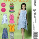 McCall's Sewing Pattern 6501 M6501 Girls Sizes 7-14 Easy Dress Top Leggings Jumpsuit Romper
