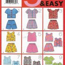 Butterick Sewing Pattern 4959 B4959 Girls Sizes 6-8  Easy Summer Tops Shorts Suntop
