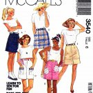 McCall's Sewing Pattern 3540 M3540 Misses Size 6 Straight Mini Skirt