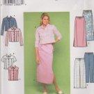 Simplicity Sewing Pattern 9155 Misses Sizes 4-10 Blue Jean Style Jacket Vest Skirt Pants