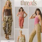 Simplicity Sewing Pattern 3880 Misses Size 10-18 Threads Cargo Cropped Pants Bermuda Shorts