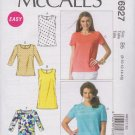 McCalls Sewing Pattern 6927 Misses Size 8-16 Easy Classic Tops Sleeve Options