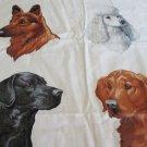 Moonwishes Stash Builders #008 Kennel Club Applique Fabric Shepherd Poodle Labrador Collie