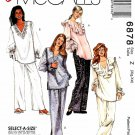McCall's Sewing Pattern 6878 Misses Size 20-26 Easy Pullover Tops Pants