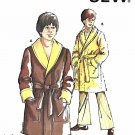 Kwik Sew Sewing Pattern 643 Boys Sizes 8-14 Shawl Collar Front Wrap Bathrobe