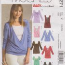 McCall's Sewing Pattern 5271 M5271 Misses Sizes 16-22 Easy Knit Pullover Layered Tank Tops
