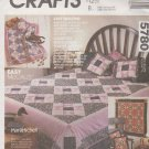 McCall's Sewing Pattern 5780 737 Crafts Marti Mitchell Quilt Pillows Wall Hanging