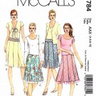 McCall's Sewing Pattern 4784 M4784 Misses Sizes 4-10 Bias Skirt Underskirt Two Lengths