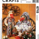 McCall's Sewing Pattern 6715 M6715 Crafts Faye Wine Stuffed Geese Clothes
