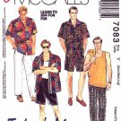 McCall's Sewing Pattern 7083 M7083 Mens Chest 46-52 Shirt Knit Tank Top Pants Shorts