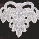 Lace Motif White  6 5/8 X 5 5/8 Garment Embellishment Crafts NOPS #56266  SKU 2585925