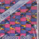 Easy Shaggy Quilt Blanket Kit 51 x 58 Precut Fleece Fabric + 2 New Spools Thread
