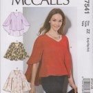 McCall's Sewing Pattern 7541 M7541 Misses Sizes 16-26 Pullover Top Length Hem Options