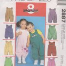 "McCall's Sewing Pattern 2887 Baby Infant Size 13-24# 25-32"" Jumpsuit Snap Crotch Pockets"