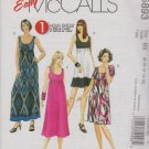 McCall's Sewing Pattern 5893 M5893 Misses Size 8-16 Easy Pullover Empire Waist Knit Dress