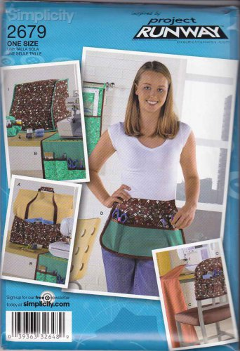 Simplicity Sewing Pattern 2679 Project Runway Sewing Room Accessories Machine Covers