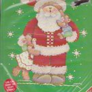 Plaid Christmas Iron-On Transfer 57419 Santa Bear Darcie Hunter