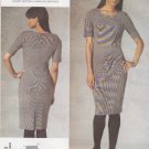 Vogue Sewing Pattern 1193 V1193 Misses Size 6-12 DKNY Easy Close-Fitting Short Sleeve Dress