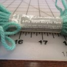 Pearl-Loft 4-Ply Spun Acrylic Yarn 10 Yards Green #53 Lot 100 Needlepoint Plastic Canvas