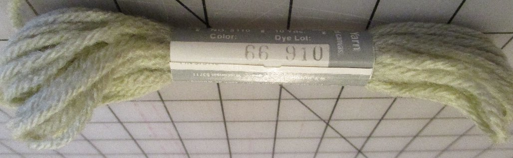 Pearl-Loft 4-Ply Spun Acrylic Yarn 10 Yards Pale Green #66 Lot 910 Needlepoint Plastic Canvas