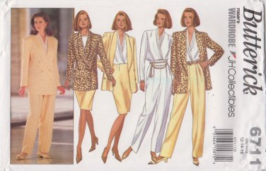 Butterick Sewing Pattern 6711 B6711 Misses Size 12-16 Jacket Blouse Skirt Pants