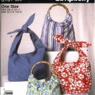 Simplicity Sewing Pattern 5151 Fashion Accessories Hobo Bag Purse Tote