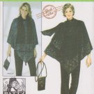 Simplicity Sewing Pattern 4373 Misses Size 14-26 Easy Top Pants Poncho Purse Scarf Patty Reed