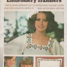 Butterick Sewing Pattern 4004 B4004 Embroidery Transfers 27 Different Motifs