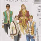 McCall's Sewing Pattern 4158 M4158 Misses Size 16-22 Lined Fur Trimmed Appliqued Vest Jackets