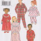 Butterick Sewing Pattern 5586 B5586 Boys Girls Sizes 7-10 Easy Nightgown Pajama Top Pants