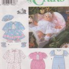 "Simplicity Sewing Pattern 7413 20"" Baby Doll Clothes Dress Romper Pajamas"
