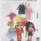 "Kwik Sew Sewing Pattern 2830 K2830 18"" Doll Clothes Wardrobe"