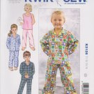 Kwik Sew Sewing Pattern 3126 K3126 Toddlers Size T1-T4 Sleepwear Pants Pajama Shirt Knit Tank Top