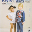 Kwik Sew Sewing Pattern 3510 K3510 Boys Girls Size T1-T4 Knit Pajamas Tops Pants Shorts