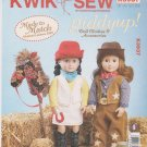 "Kwik Sew Sewing Pattern 3937 K3937 Giddyup 18"" Cowgirl Doll Clothes Horse"
