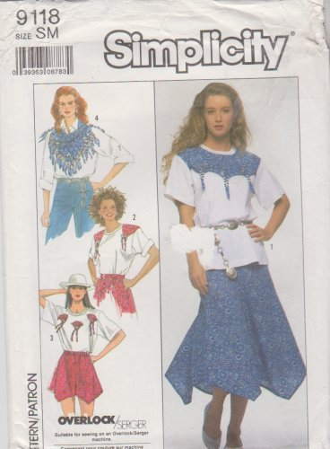 Simplicity Sewing Pattern 9118 Misses Size 10-12 Skirt Shorts Scarf Knit Top