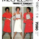 McCall's Sewing Pattern 7090 M7090 Misses Size 12 Top, camisole and skirt.