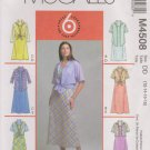 McCall's Sewing Pattern 4508 M4508 Misses Size 12-18 Pullover Sleeveless Dress Button Front Shirt