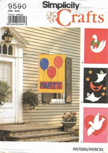 Simplicity Sewing Pattern 9590 Outdoor Decorative Flags Banners Holidays Special Occasions