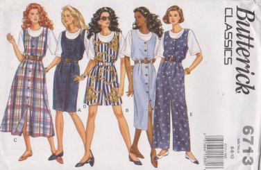 Butterick Sewing Pattern 6713 B6713 Misses Size 6-10 Easy Classic Top Jumper Jumpsuit
