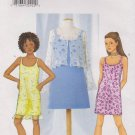 Butterick Sewing Pattern 6960 B6960 Girls' Sizes 7-10 Easy Jacket Bolero Lined Slip Dress