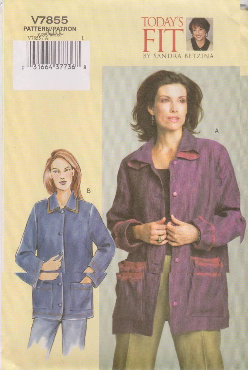 Vogue Sewing Pattern 7855 V7855 Misses Size 10-14 Sandra Betzina Lined Jacket