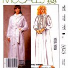 McCall's Sewing Pattern 3323 M3323 Misses Size 10-12 Nightgown Robe Laura Ashley