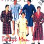 McCall's Sewing Pattern 2779 M2779 Mens Size 38-40 Easy Robe Pajamas Nightshirt