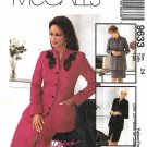 McCall's Sewing Pattern 9633 M9633 Misses Size 24 Lined Jacket Skirt Suit Palmer/Pletsch